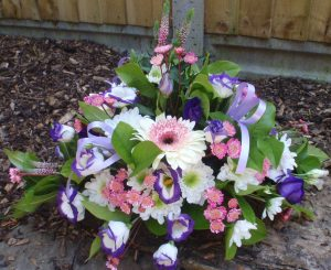 Pink And Lilac Posy