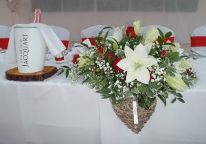 Rose And Lily Top Table Decoration