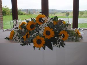 Sunflower Top Table Decoration