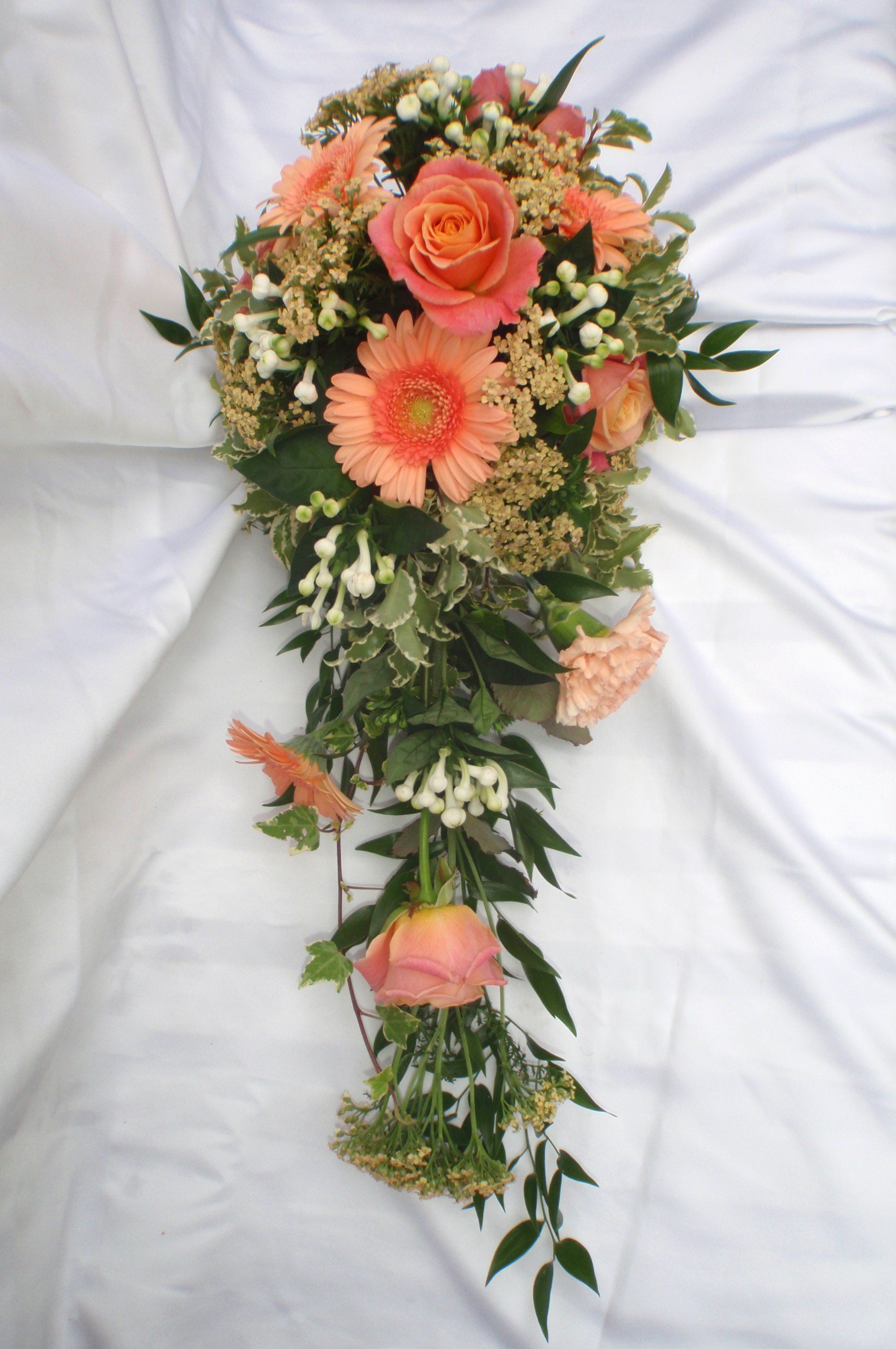 Coral Shower Bouquet