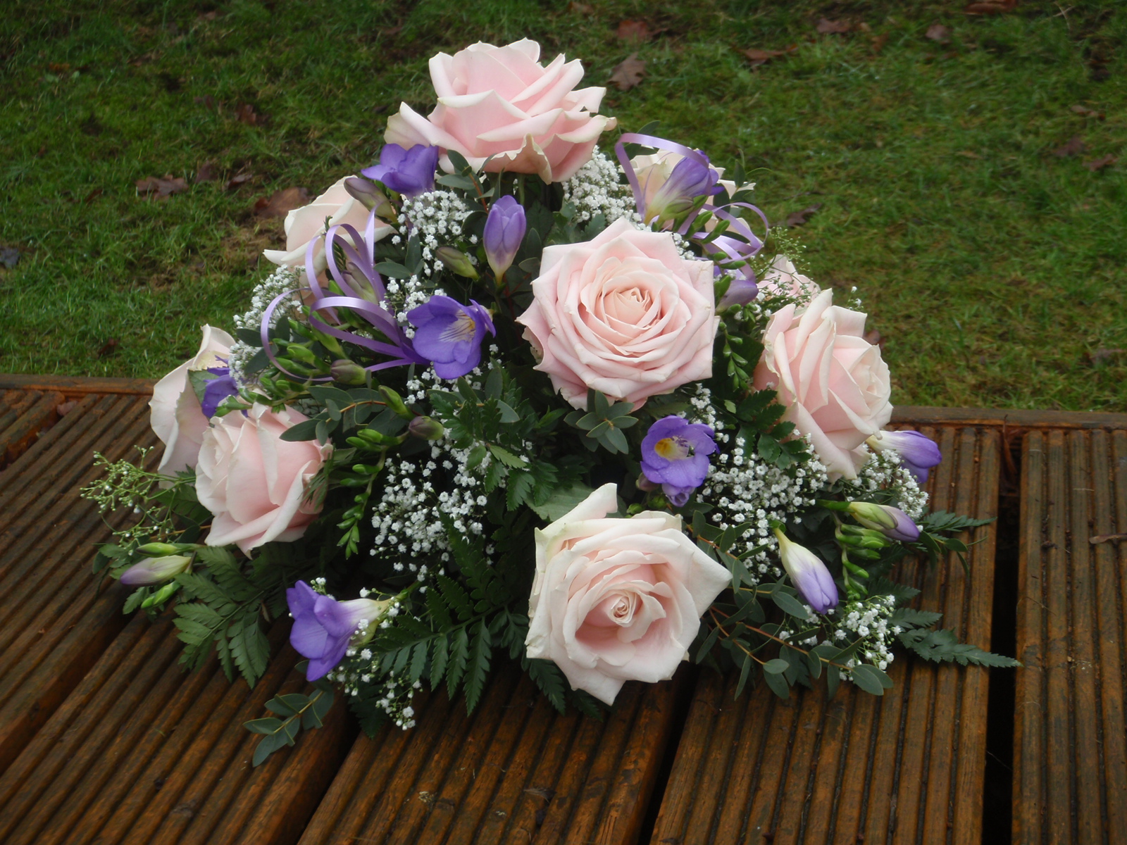 Pink Rose and Lilac Posy