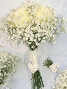 Gypsophila And Rose Bouquets, Haywards Heath