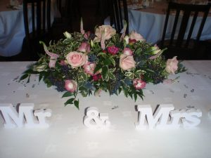 Mr And Mrs Top Table Decoration