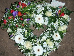 Open Loose Heart  Wreath, Crawley