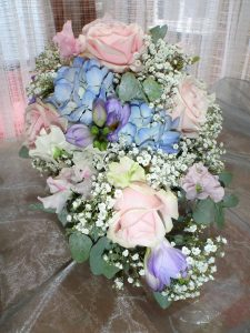 Lovely Pastel Sweetpea Bouquet